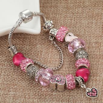 Candy Online Europe and the United States trendy 925 Silver Pandora charm bracelet crystal bracelet B16074 - 3