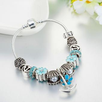 Candy Online Europe and the United States trendy 925 Silver Pandora charm bracelet crystal bracelet B16190