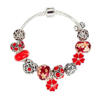 Candy Online Europe and the United States trendy 925 Silver Pandora charm bracelet crystal bracelet B16208