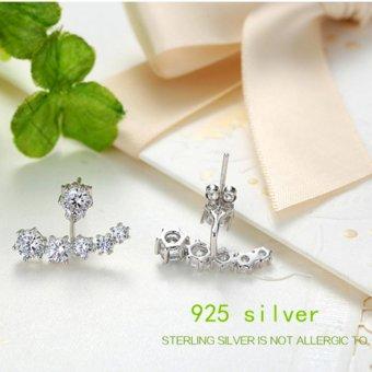 Candy Online Korean fashion diamond 925 silver earrings jewelry ED109 - 4