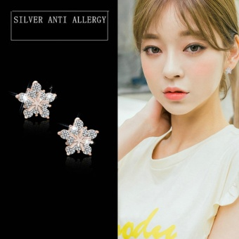 Candy Online Korean Rose Gold Earrings Jewelry ED188