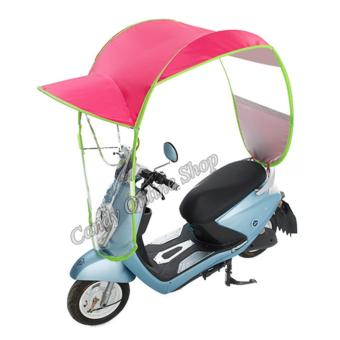 Candy Online Motorcycle Bike E-Bike Canopy Umbrella Cover (Pink)
