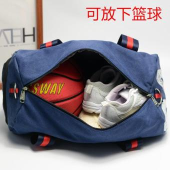 Canvas Men Travel Carry on Luggage Round Duffel Bags Large Weekend Bag Overnight - intl - 4