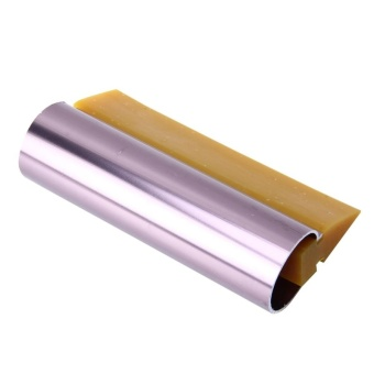 Car Auto Body Surface Window Wrapping Film Yellow Rubber ScraperSticker Tool Black With Pink Metal Handle - intl - 3