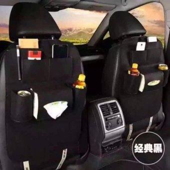 Car Auto Seat Back Multi Pocket Storage Bag Organizer (Black)
