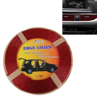 Car Auto Truck Door Edge Guard Trim Molding Protector Strip,Length: 15m(Red) - intl