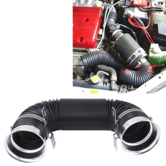 Car Auto Universal Tube Air Filter Adjustable Cold Air InjectionIntake System Pipe Without Air Filter(Color:Silver ) - intl