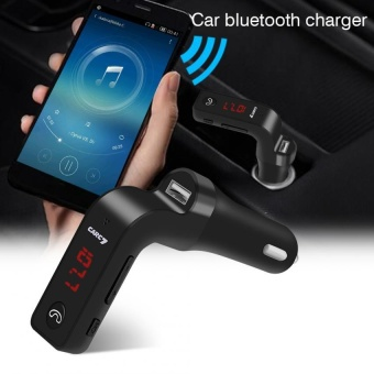Car Bluetooth Kit LED FM Transmitter Wireless Radio Adapter USBCharger MP3 Player Black - intl