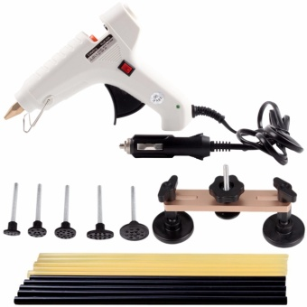 Car Body Painless Dent Puller Removal Repair DIY Tools Kits with Glue Sticks/Bridge Gold - intl