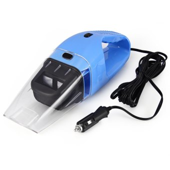 Car Care Kits + Portable Mini 12V 120W Car Vacuum Cleaner VehicleAuto Handheld Vacuum Dirt Wet & Dry (Blue)