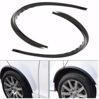Car Fender Flare Extension Wheel Eyebrow Moulding Trim Protector Lip(BLACK)