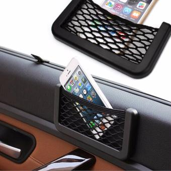 Car Net Bag Organizer Net Pocket with Adhesive Visor Car Styling Bag Storage for tools Mobile phone
