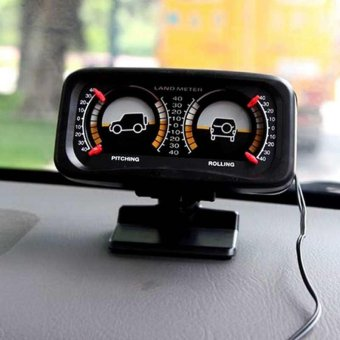 Car Offroad 12V 2-barreled Backlight Inclinometer Tilt Slope MeterPitch Rolling - intl