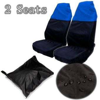Car Seat Covers Universal Seat Protective Casing Automobiles Blackblue - intl