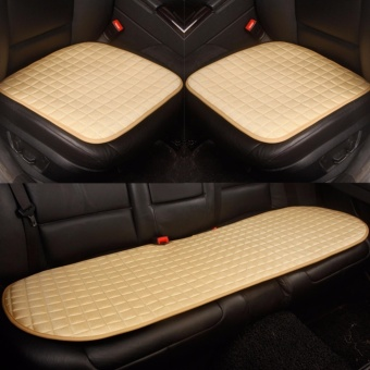 Car Seat Cushion,Front and Rear Row,Non-slip Fabric,NoInstallation,Interior Accessories,Beige - intl