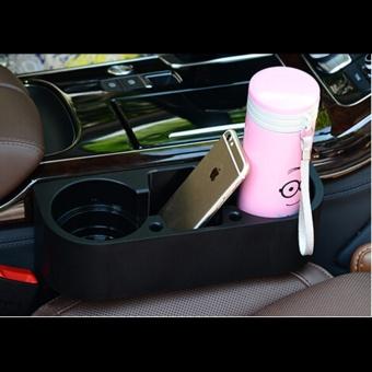 Car Seat Gap Storage Box Black Plastics Auto Water Cup Mobile PhonePocket Organizers Automoibe Seat Gap Holder Stowing Tidying,Black -intl - 2