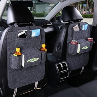 Car Seat Organiser Multifunctional Thick Felt Pocket Travel StoragEasy to Install & Remove and Large Capacity - intl