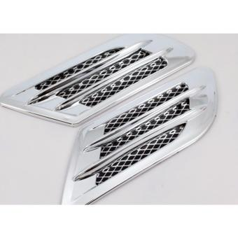 Car Side Air Flow Vent Hole Cover Fender Intake Grille Decoration Sticker (1 pair)