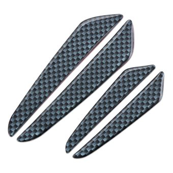 Car Side Door Edge Specific Carbon Fiber Protection Guard Sticker(Black) - intl