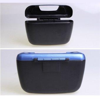 Car Side Door Interior Cargo Trash Can Garbage Storage Box Container(Blue) - 5