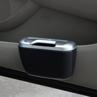 Car Side Door Interior Cargo Trash Can Garbage Storage Box Container(Blue) - 3