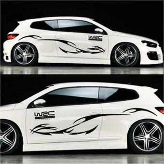 Car styling KK engine hood car sticker car body decals stripes forFocus Cruze Black - intl