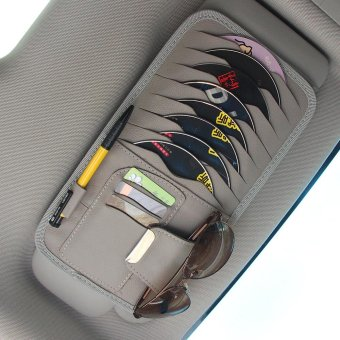 Car Sun Visor CD/DVD/Disk Holder/Storage/Case/Pocket/Organizer(Grey) - intl