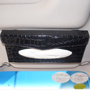 Car sun visor hanging sunroof pumping paper box car with a tissue box