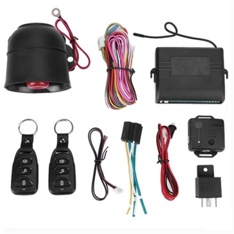 Car Vehicle Burglar Alarm Protection Keyless Security System with 2Remotes - intl