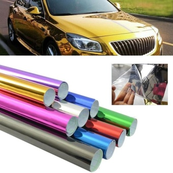 Car Vehicle Sticker Fiber Color Change Vinyl Wrapping Plating Chrome Film - intl