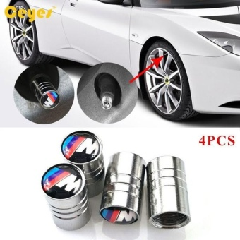Car Wheel Tire Valves Tyre Stem Air Caps Cover case for BMW M F31F34 F32 E52 E53 E60 E90 E91 E92 E93 F01 F30 F20 F10 F15 F13 M3 M5M6 X1 X3 X4 X5 X6 emblem auto accessories Car-stying StainlessSteel 4pcs/set - intl