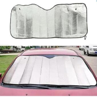 Car Windshield Visor Cover Front Rear Block Window Sun Shade Foldable - 4