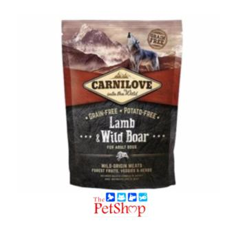 Carnilove into the Wild 1.5kg Lamb & Wild Boar for Adult Dogs