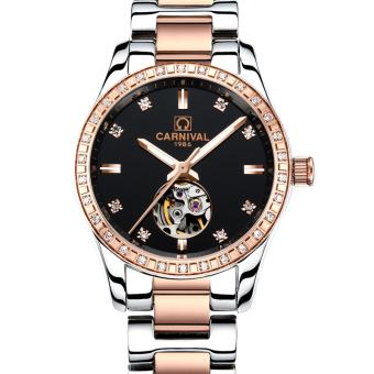 Carnival fashion porous multi-functional diamond set women's watch automatic mechanical watch