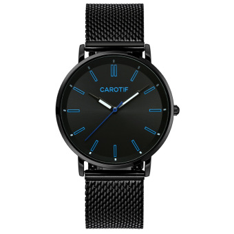 CAROTIF fashion leather steel waterproof quartz watch ultra-thin watches
