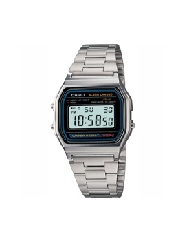 Casio A158WA-1U Watch with 1 Year Warranty (T1Y)
