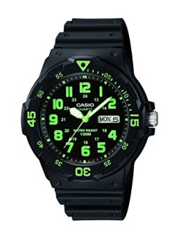 Casio Analog Men's Black Resin Strap Watch MRW-200H-3B with 1 Year Warranty (T1Y)