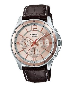 Casio Analog Mens Leather Strap Watch MTP-1374L-9AVDF