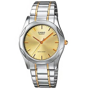 Casio Analog Mens Stainless Steel Strap Watch MTP-1275SG-9ADF