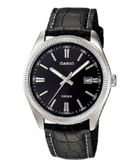Casio Analog Womens Leather Black Strap Watch LTP-1302L-1AVDF