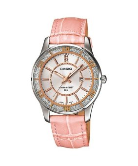 Casio Analog Womens Leather Pink Strap Watch LTP-1358L-4A