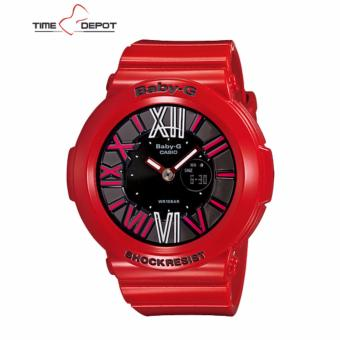 Casio Baby-G Women's Analog Digital Red Resin Strap Watch BGA-160-4B