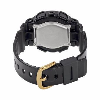 Casio Baby-G Women's Black/Gold Rubber Strap Watch BA110-1A - 2