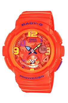 Casio Baby-G Women's Orange Resin Strap Watch BGA-190-4B
