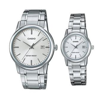 Casio Couple Pair Stainless Steel Watch Mtp/Ltp V002D-7