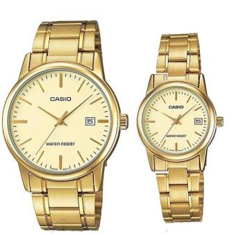 Casio Couple Pair Stainless Steel Watch Mtp/Ltp V002G-9A