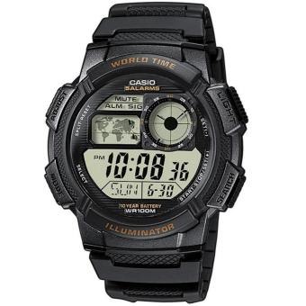 Casio Digital Men's Black Resin Strap Sports Watch AE-1000W-1AVDF