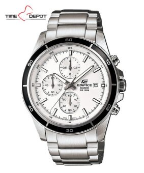 Casio Edifice Men's Silver Stainless Steel Strap Watch EFR-526D-7A