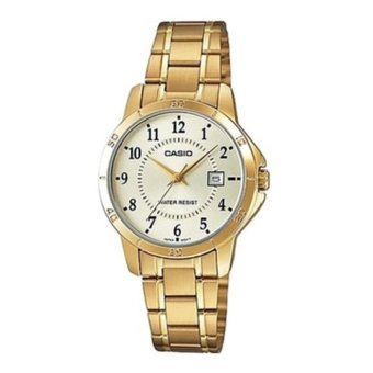 Casio Enticer Women's Gold Stainless Strap Watch LTP-V004G-9B