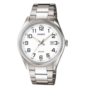 Casio Enticer Women's Silver Stainless Steel Strap Watch LTP-1302D-7B